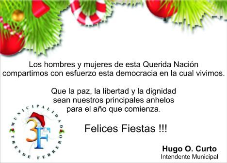 Saludo Intendente Hugo Curto 2012