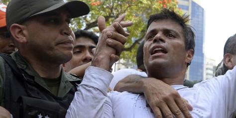 VENEZUELA-POLITICS-OPPOSITION-LOPEZ-SURRENDER