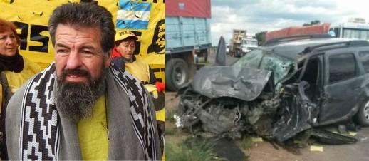 Así quedó la camioneta en la que viajaba el dirigente. |@ Gentileza / Diario Chaco