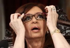 Cristina en el Congreso. Joyas y marcos violetas. | DyN