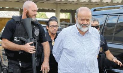 A la reja. El otrora todopoderoso tesorero del gobernante Partido de los Trabajadores fue detenido por la policía federal en su casa de Curitiba.