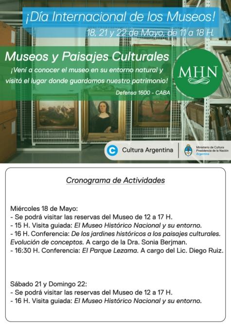 Dia de los museos cronograma curvas
